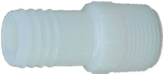 "Genova 360415 Nylon Insert Male Adapter, 1-1/2"", White"