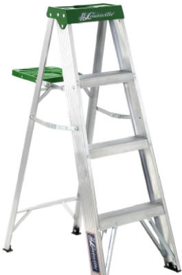 Louisville Ladder AS4004 Aluminum Type II Step Ladder, 4'