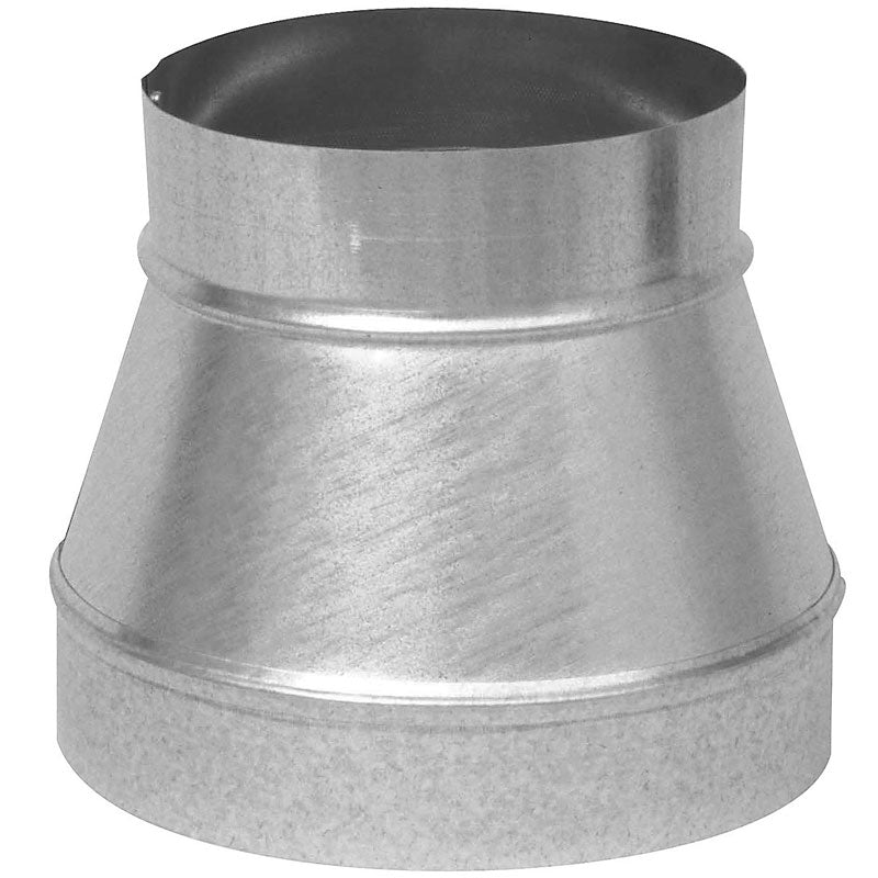 "Imperial GV1352 Galvanized Taper Reducer, 24 Gauge, 8"" x 7"""