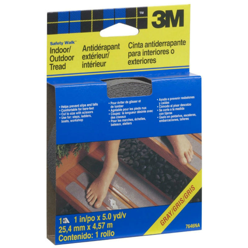 "3M 7646 Safety-Walk Home & Recreation Tread, 1"" x 180"", Gray"