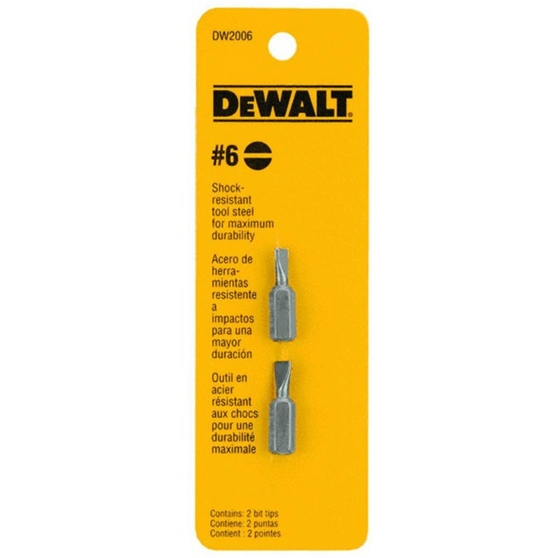 "DeWalt® DW2006 High Performance Screwdriver Bit Tip, #6 Phillips, 1"", 2-Pack"
