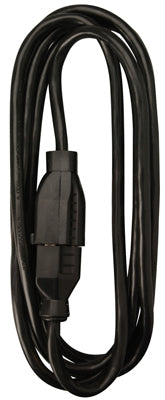 Master Electrician 02306ME Extension Cord, 16/2 SJOW, 13A, 15', Black
