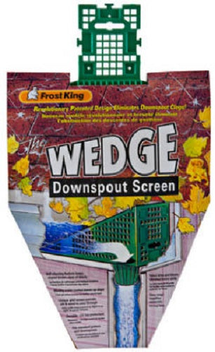 Frost King W103/12 Wedge Downspout Screen, Green