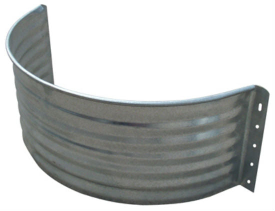 Tiger Brand™ AW-18R Round Area Wall, Galvanized Steel, 18""