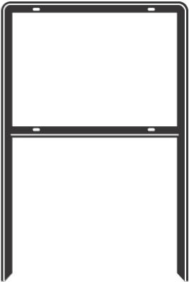 "Hy-Ko FRAME-2 Heavy Duty Sign Frame, 24-3/8"" x 41"", Black"