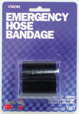 "Victor Automotive 22-5-00302-8 Emergency Hose Bandage, Black, 2"" x 120"""
