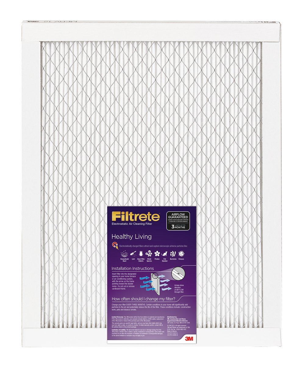 "Filtrete™ 2023-6 Healthy Living Ultra Allergen Filter, 14""x24""x1"", Purple, 1500 MPR"