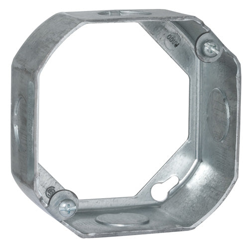 "RACO® 128 Steel Octagon Extension Ring, 4"" x 1-1/2"" Deep"