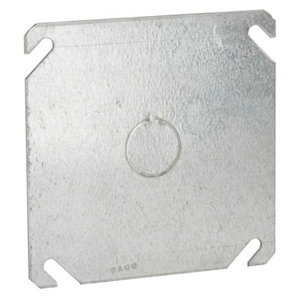 RACO® 8753 Square Steel Flat Box Cover, 4""