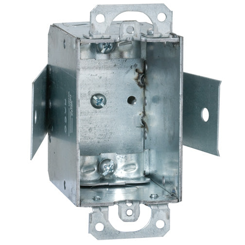 RACO® 545 Steel Old Work Switch Box, Gangable w/Nonmetallic Sheathed Clamp, 3""