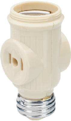 Pass & Seymour Keyless Lampholder Current Tap, 660W, 125V, Ivory
