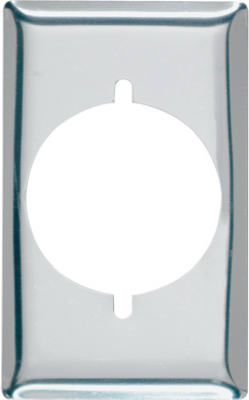 "Pass & Seymour Power Outlet Receptacle, 1 Gang, 2.15"" Round Opening"