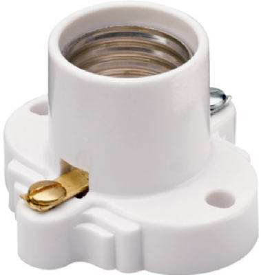 Pass & Seymour Cleat Socket, 660W, 250V, White