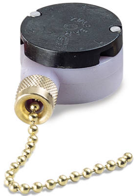 Gardner Bender GSW-33 Variable Speed Pull Chain Switch, 2 Speed