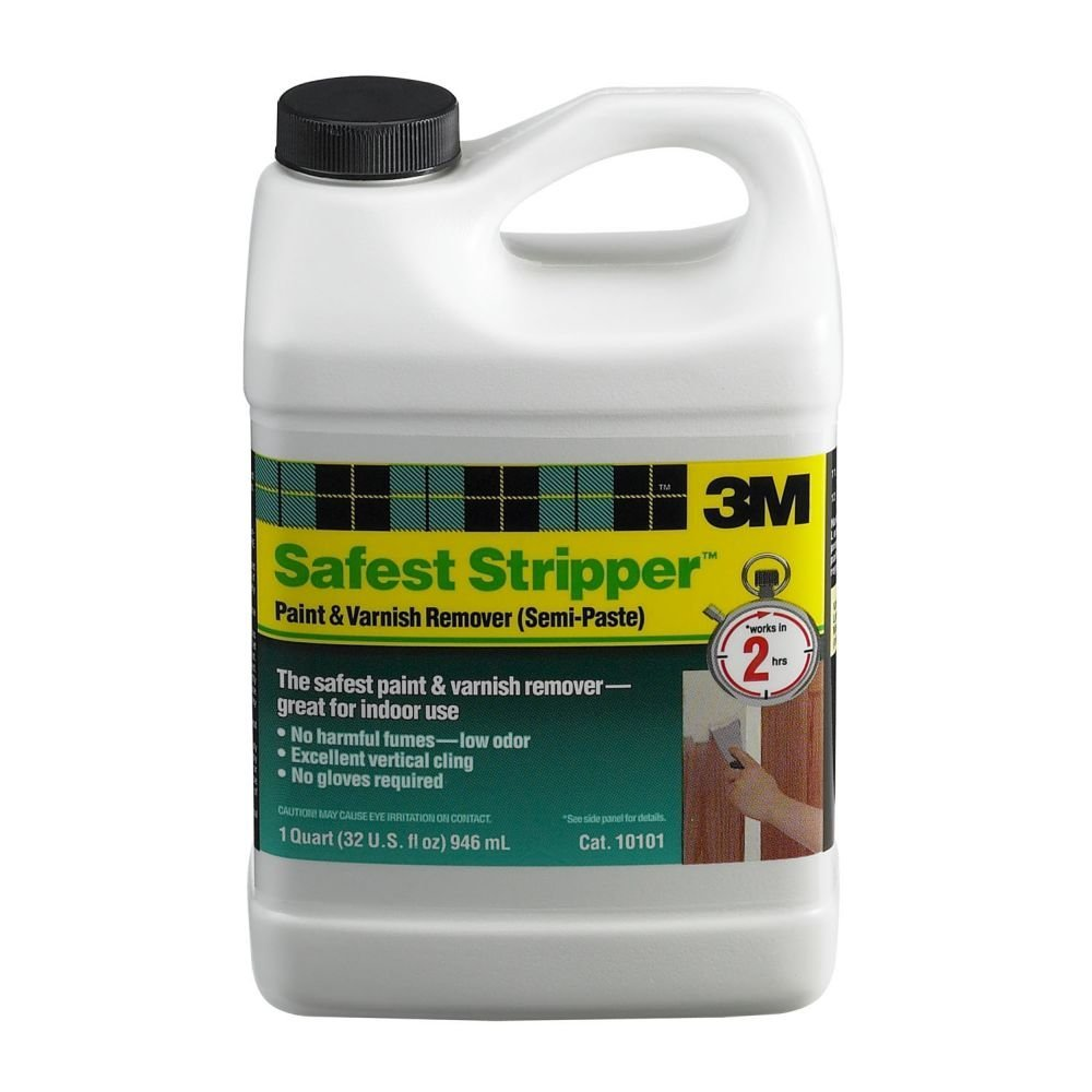 3M 10101 Safest Stripper Semi-Paste Paint & Varnish Remover, 1 Qt