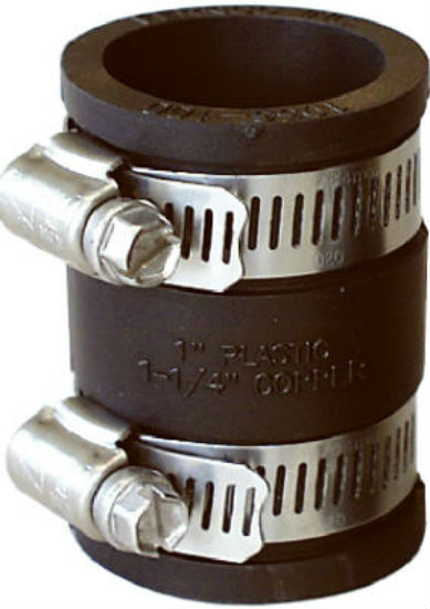 "Fernco® P1056-44 Flexible Coupling for Cast Iron Or Plastic Pipe, 4"" x 4"""