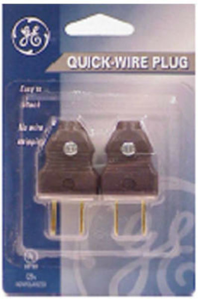 GE 54266 4305-12W5 Dead Front Attachment Plug, Brown, 2-Pack