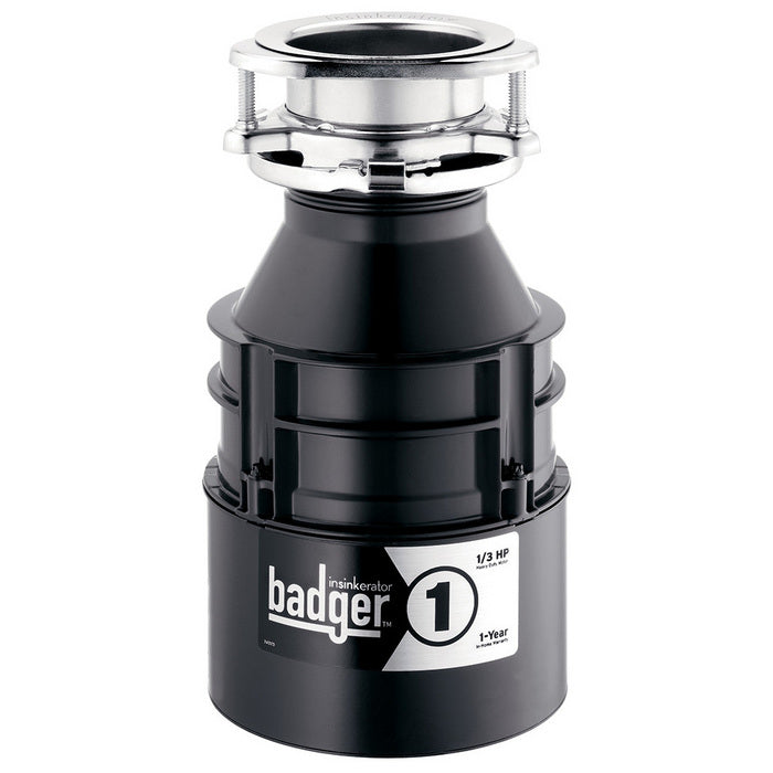 InSinkErator® BADGER 1 Continuous Feed Food Waste Garbage Disposal, 1/3 HP