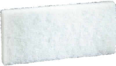 "3M 8440 Doodlebug Cleaning Pad, 4-5/8"" x 10"", White"