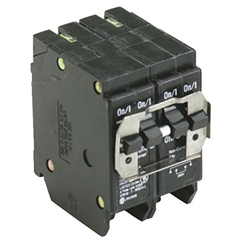 Eaton BQ230230 Double Pole Circuit Breaker, 2-30A, 120/240V