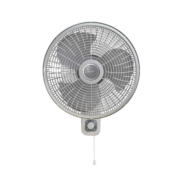 Lasko M16900 Oscillating 3-Speed Wallmount Fan, Rotary & Pull Cord Control, 16""