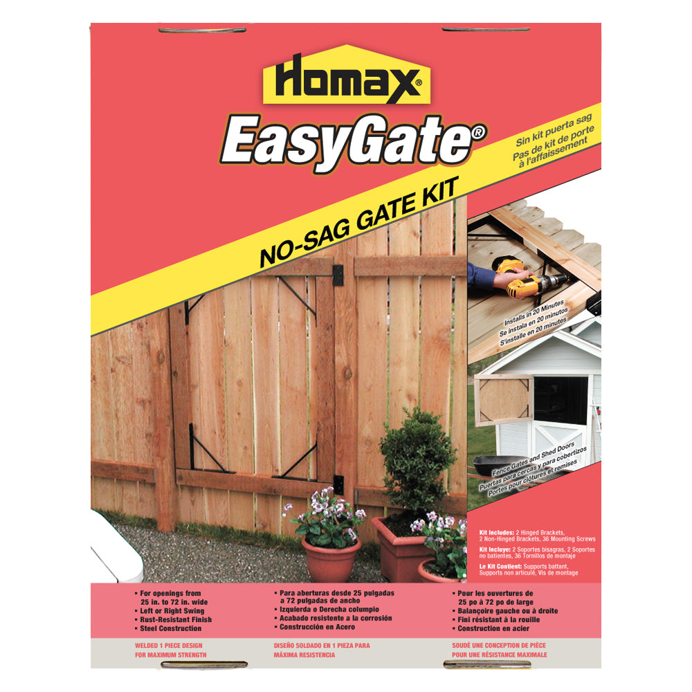 Homax® 80099 EasyGate® No-Sag Bracket Gate Kit, Steel Construction