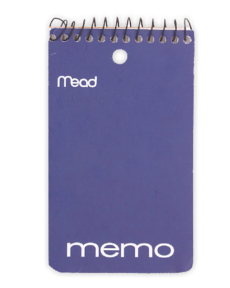 "Mead 45354 Wirebound Memo Book, 3"" x 5"", 60-Sheets"