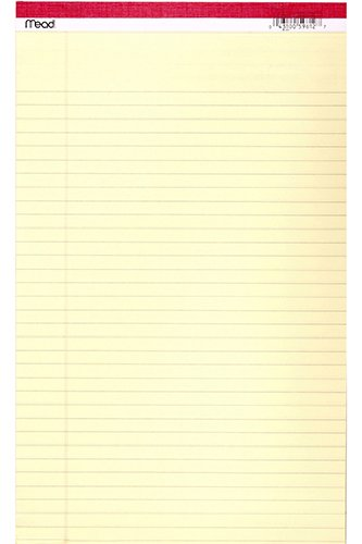 "Mead® 59612 Perforated Yellow Legal Pad, 8-1/2"" x 14"", 50 Count"