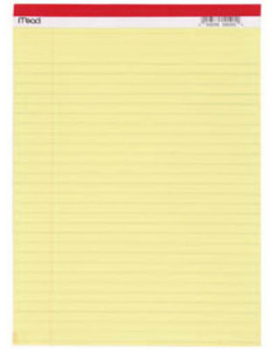 "Mead® 59610 Yellow Legal Pad, 8-1/2"" x 11"", 50-Count"