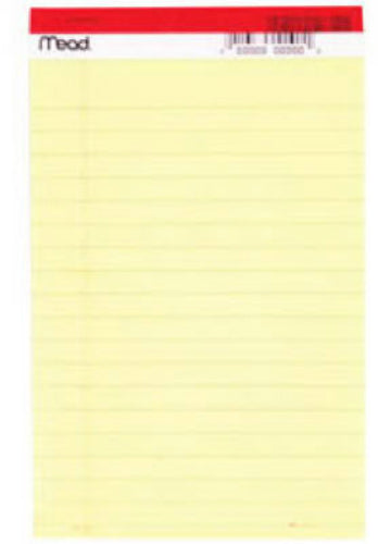 "Mead® 59614 Yellow Legal Pad, 5"" x 8"", 50-Count"