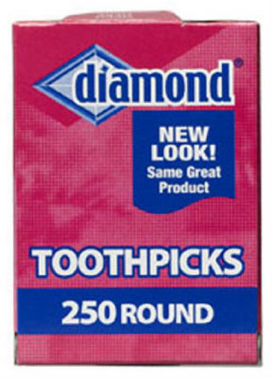 Diamond® 41853 Round Toothpick, 250-Count