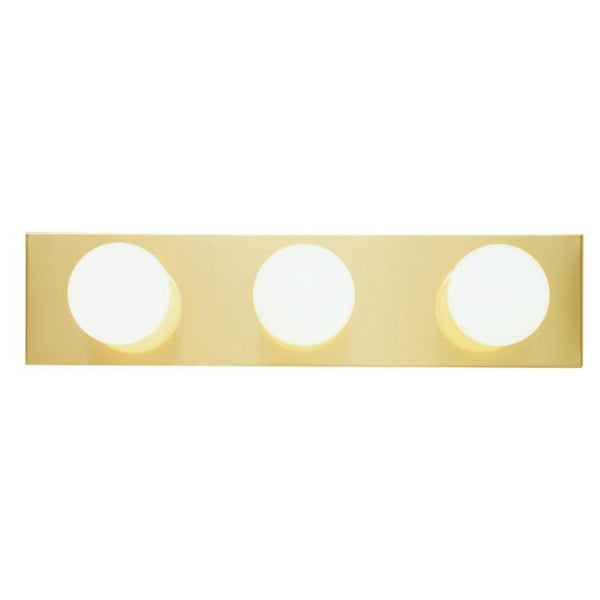 Westinghouse 66405 Three-Light Interior Bath Bar, Polished Brass Finish