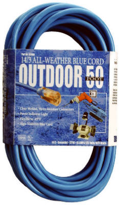 Coleman Cable® 02368-06 High-Visibility/Low Temp Outdoor Extension Cord, 50'