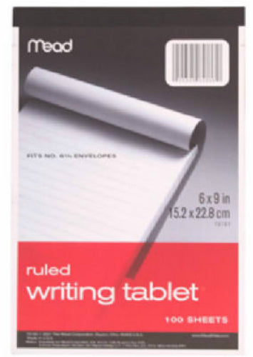 "Mead® 70102 Ruled Writing Tablet, 6"" x 9"", 100-Count"