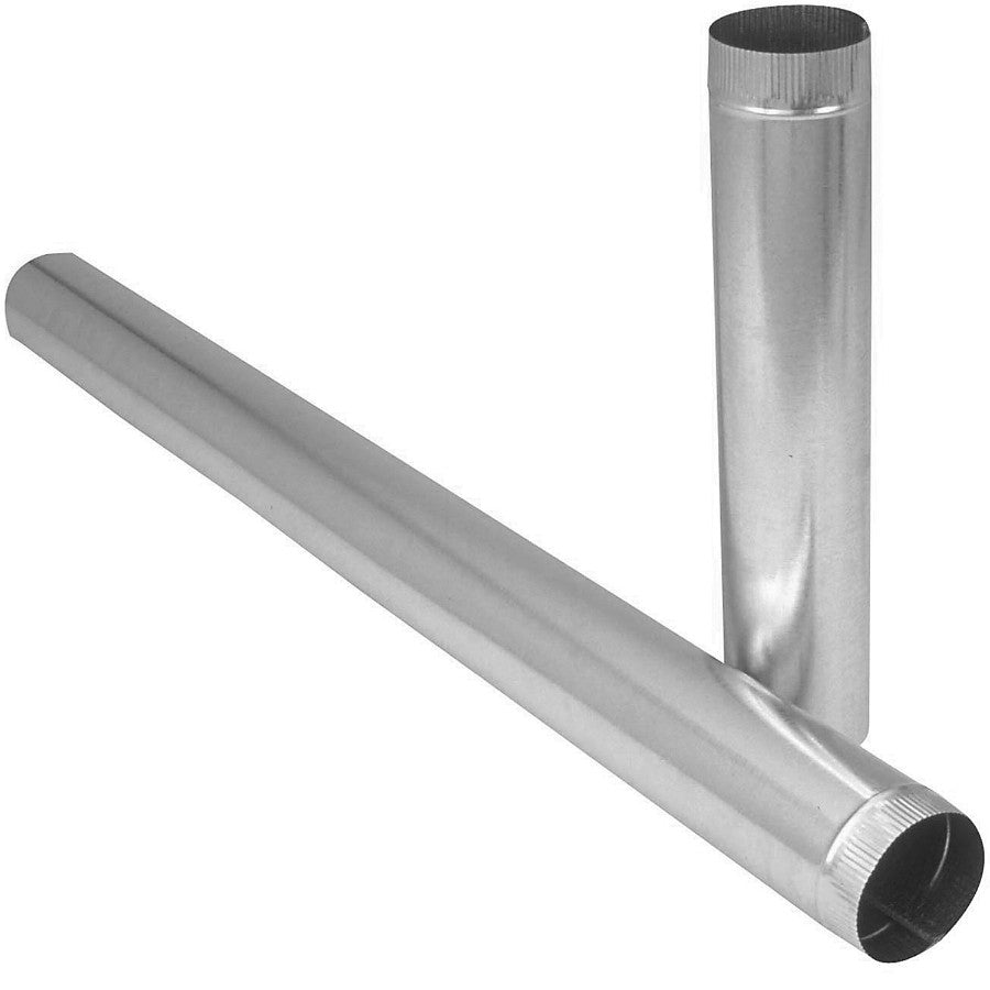 "Imperial GV0406 Galvanized Furnace Round Pipe, 26 Gauge, 8"" x 24"""