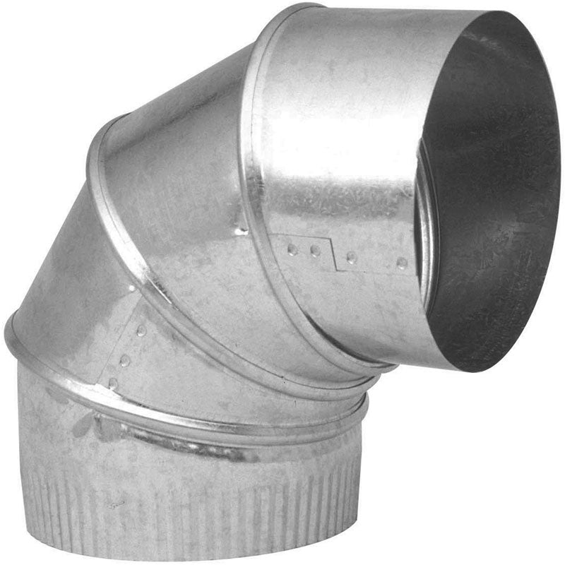 Imperial GV0301-C HVAC Galvanized Adjustable Furnace Elbow, 90-Degree, 8""