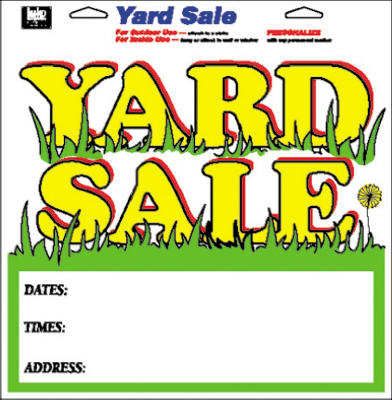 "Hy-Ko 22616 Yard Sale Sign, 13"" x 13"", Multi Color"