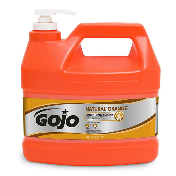 Gojo® 0945-04 Natural Orange™ Smooth Hand Cleaner with Pump Dispenser, 1-Gal