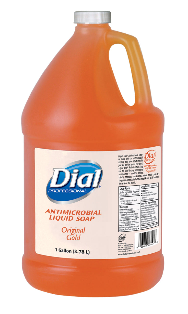 Dial® 88047 Antimicrobial Liquid Hand Soap Refill, Original Gold, 1-Gallon