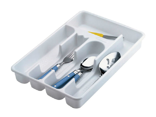 Rubbermaid® 2919-RD-WHT Plastic Cutlery Tray, Small, White