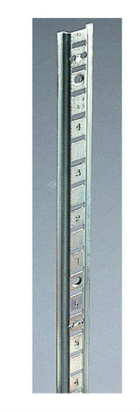 Knape & Vogt® PK233ZC72 Zinc Steel Pilaster Standards, 233-Series, 6' x 13/16''
