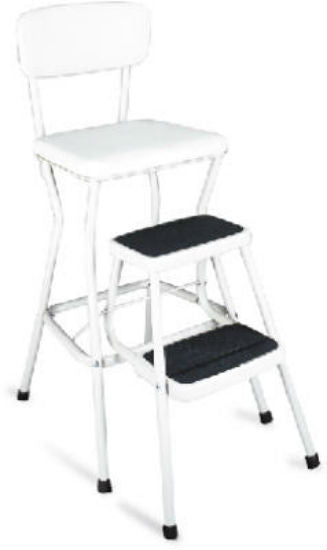 Cosco® 11-118-WHT Deluxe Chair Step Stool with Pull-Out Steps, White