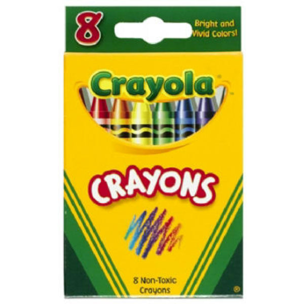 Crayola 52-3008 Crayons In Tuck Box, 8-Count