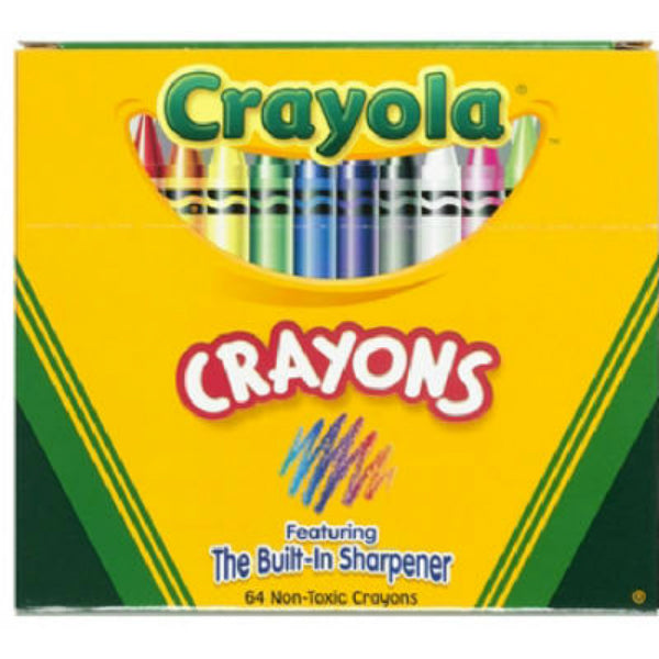 Crayola 52-0064 Crayons with Sharpner, 64-Count