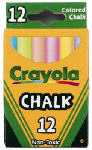 Crayola 51-0816 Colored Chalk, 12-Count