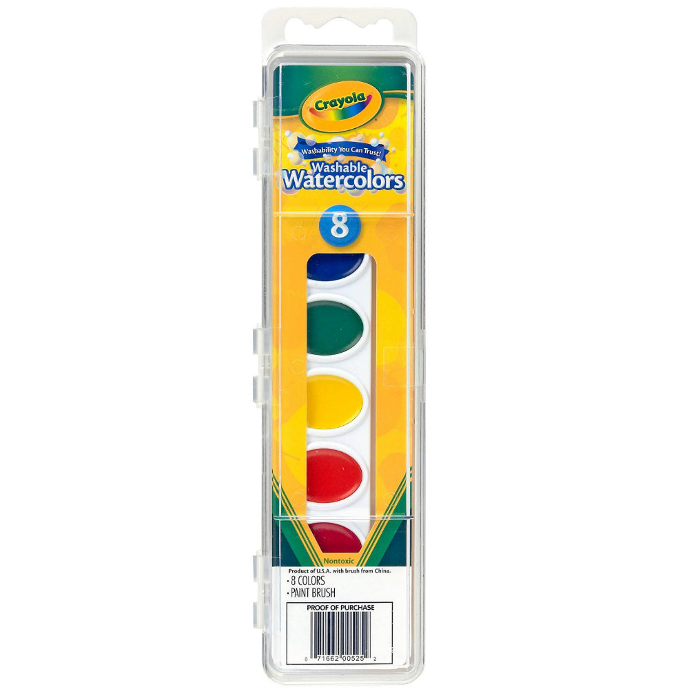 Crayola 53-0525 Washable Watercolors, 8-Count
