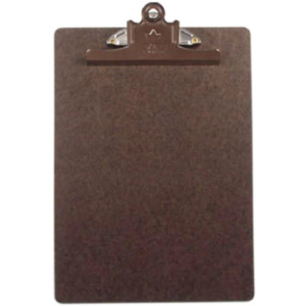 "A & W Products 4004 Letter Size Clipboard, 9"" x 12"", Brown"