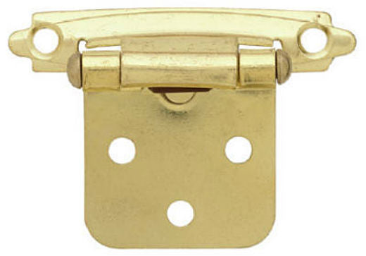 "Brainerd® 69206 Self-Closing Overlay Hinge, 2"" x 3/4"", Brass Plated, 2-Pack"