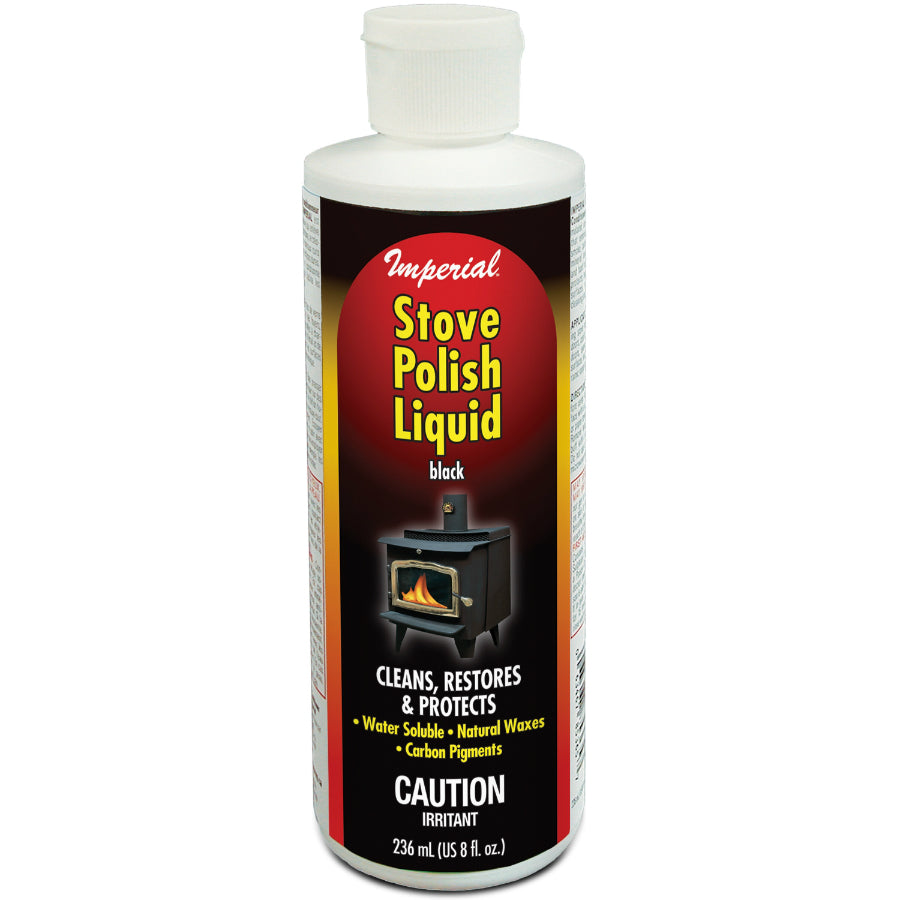 Imperial KK0057 Stove Polish Liquid, 8 Oz, Black