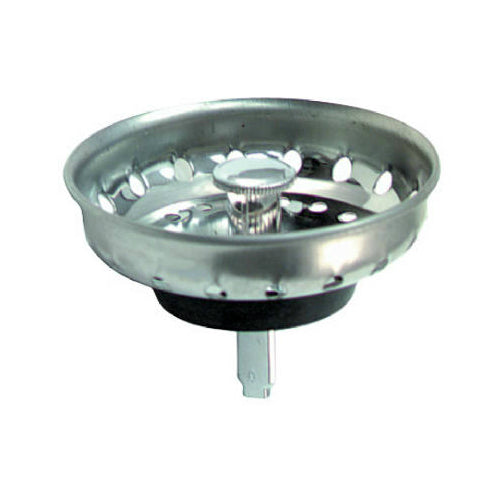 "Master Plumber 282-079 Replacement Basket Strainer with Post, 3-1/2"", Chrome"